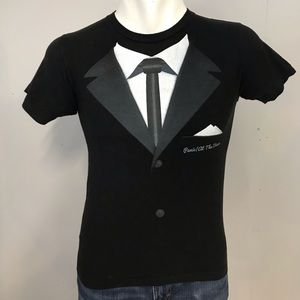 Panic At The Disco Tuxedo T Shirt Small Black